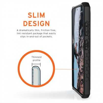 Genuine UAG Monarch Series For Samsung Galaxy S21 Ultra (Carbon)